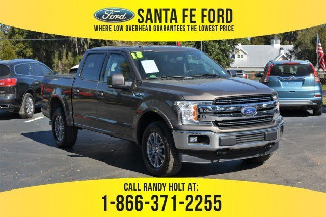 2018 Stone Gray Ford F 150 Lariat 4x4 Regular Unleaded V 8 5 0 L