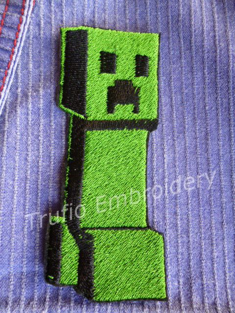 Tall Creeper - Minecraft inspired - iron-on patch/badge by Trufio on Etsy