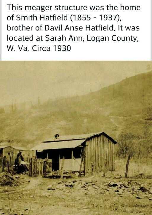 Home of Smith Hatfield, brother to Devil Anse. Logan County, W Va. Circa 1930 my family is from Logan county