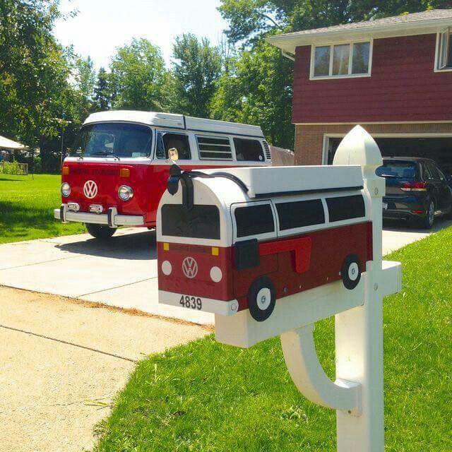 VW Bus & mailbox mini-me