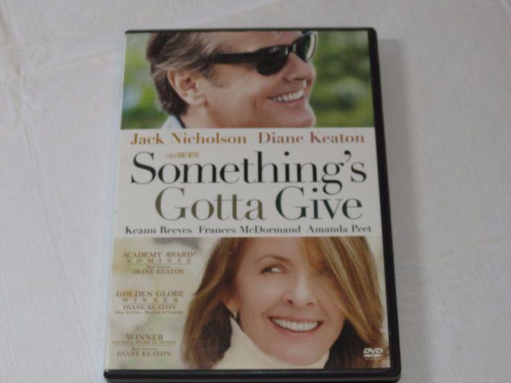 Somethings Gotta Give DVD 2004 Comedy PG-13 Jack Nicholson Diane Keaton