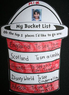 Classroom Freebies: My Bucket List: Writing Prompt Craftivities Oh the Places You'll Go activity