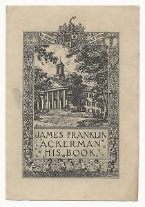 Bookplate-Of-James-Franklin-Ackerman-by-Everett