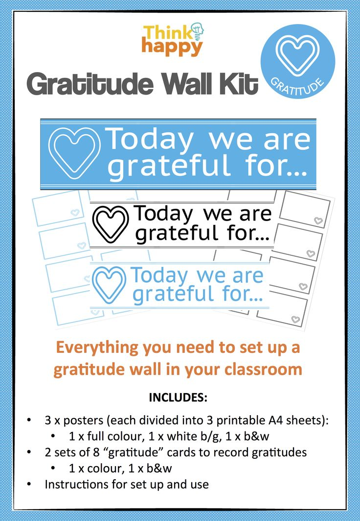 Simple way of introducing a daily #gratitude routine into any classroom www.designedbyteachers.com.au/shop/thinkhappy