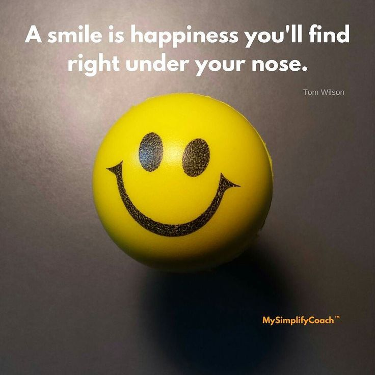 A Smile is happiness you'll find right under your nose. #quote #mysimplifycoach