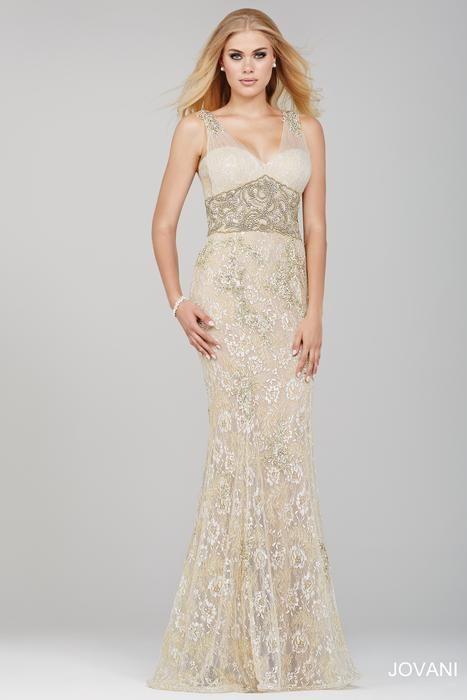 Jovani white lace dress 21226