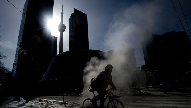 Cold weather in Toronto
