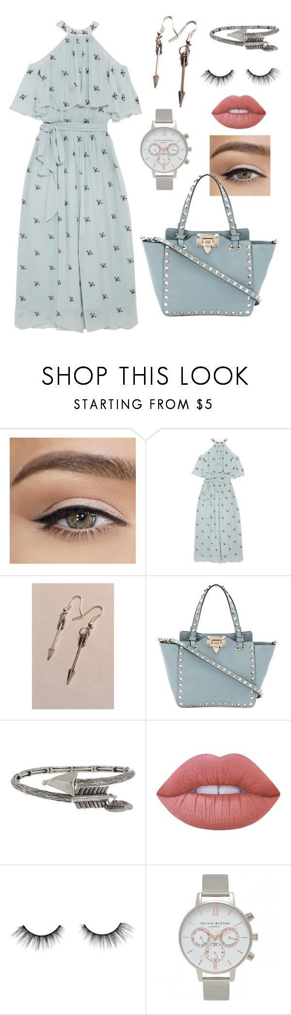"""""""Arrow"""" by loveisablindwar on Polyvore featuring Temperley London, Valentino, Alex and Ani, Lime Crime, tarte and Olivia Burton"""