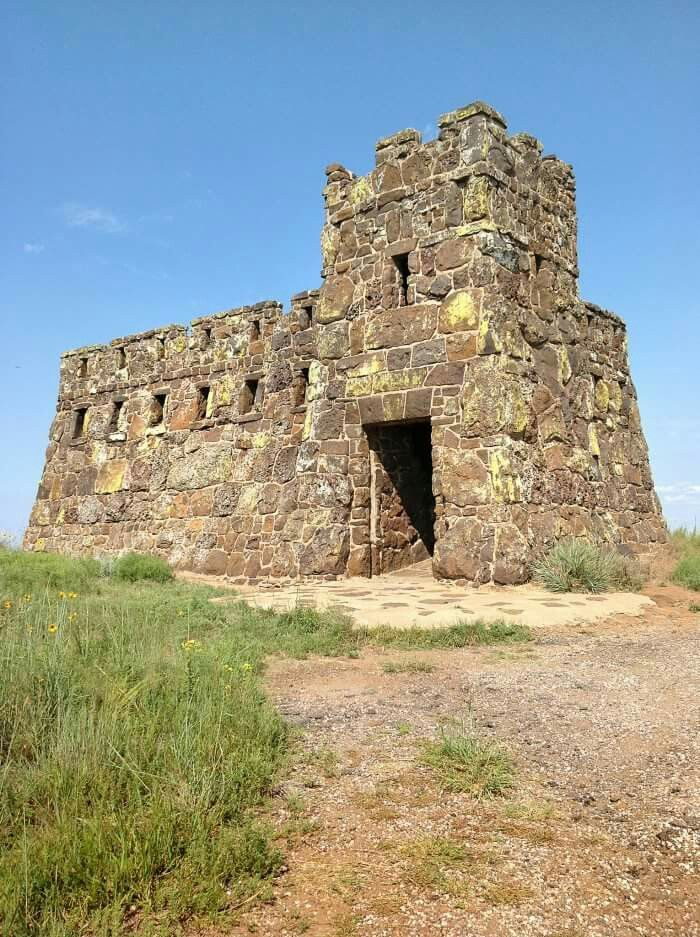 The magnificent Coronado Heights is said have been built by the Works Progress Administration in the 1930's to mark the spot where Francisco Vásquez de Coronado gave up his search for the seven cities of gold and returned to Mexico. Coronado Heights is a hill northwest of Lindsborg, Kansas.
