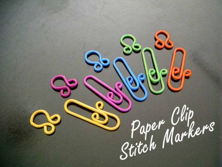 These look perfect. Stitch markers made from paper clips and wire.