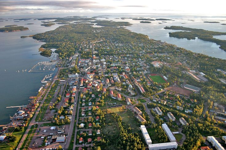 The capital Mariehamn on the autonomic island of Åland, Finland