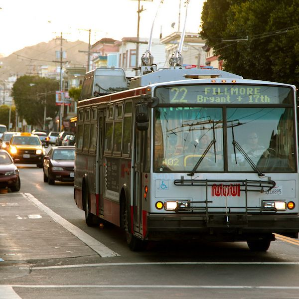 Forget the touristy red hop on/hop off bus. When in San Francisco, do as the locals do: Ride the 22 Fillmore line of the MUNI bus system, which passes through many of the city's most culturally diverse corridors for shopping, eating, nightlife, and people-watching. Just pay $2.25 the first time y...