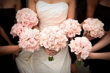 Wedding, Flowers, Pink, Bridesmaids, Bridal, Roses, Bouquets, Monday morning flowers