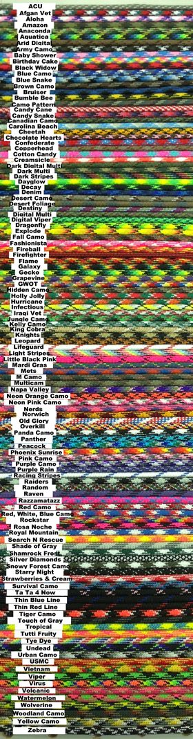 Supply Captain: 100 FT COMBINATIONS OF COLORS 550 PARACORD