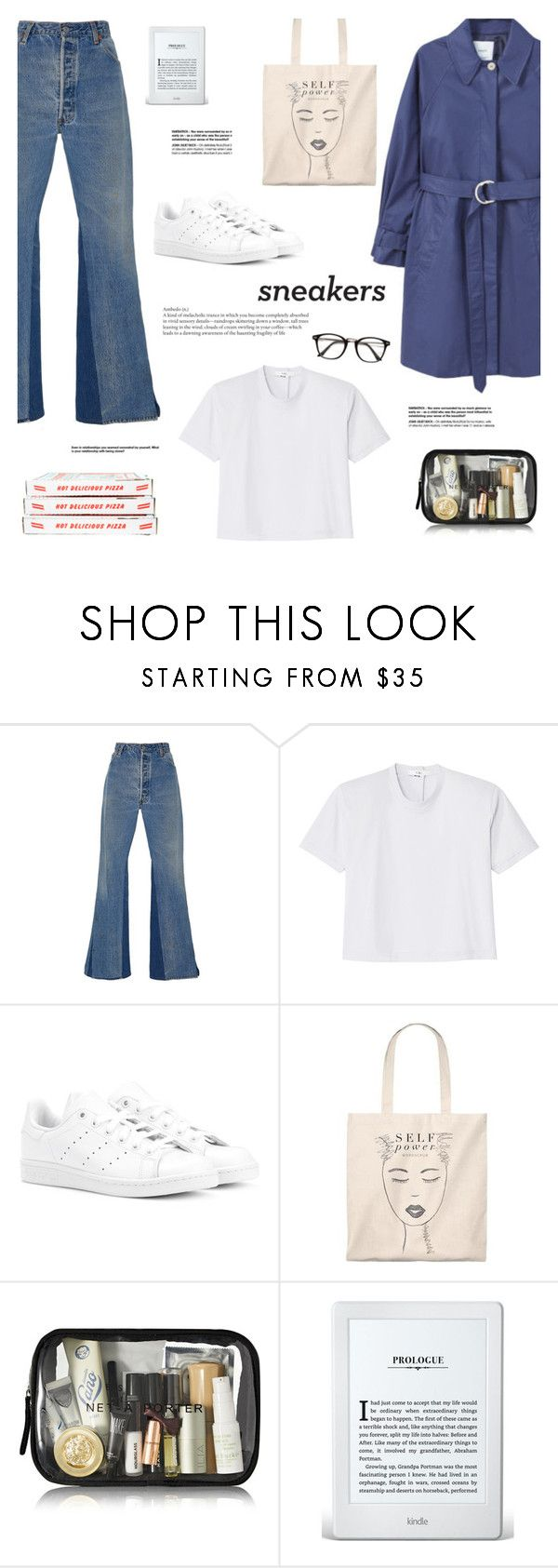 """""""Jueves por la Noche"""" by makeupgoddess ❤ liked on Polyvore featuring RE/DONE, TIBI and adidas Originals"""