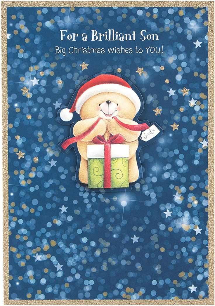 Hallmark forever friends christmas card to son sweets and