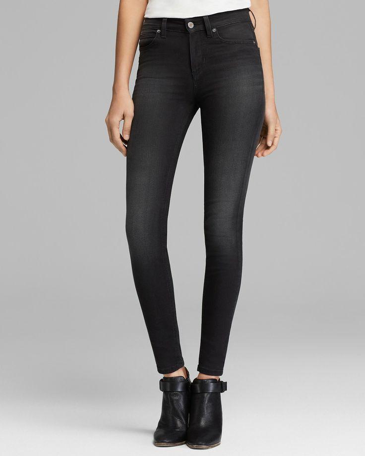 GUESS Jeans - 1981 High Waist Skinny in Faded Noir   Bloomingdale's