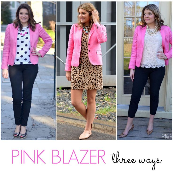 Mix it: Hot Pink Blazer | Fizz and FrostingFizz and Frosting