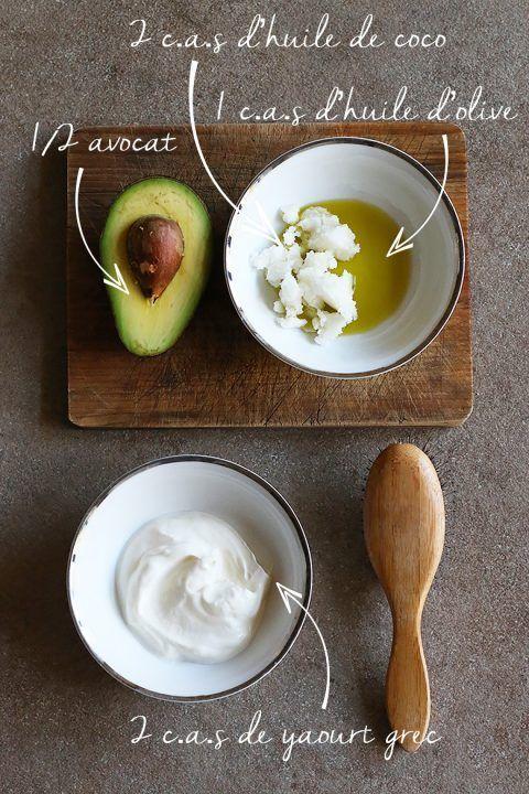 Soins capillaires à domicile: masque capillaire à l'œuf, avocat, protéines (recettes)