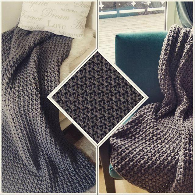 #afghan #blanket #chunkyblanket #chunky #crochetblanket #crochet #hekleteppe #hekling #szydełko #heklekrok #handmade #håndarbeid #rekodzielo #home #hjem #warmandcozy #koseteppe #interiør #interior #wnetrze #wool #ull #throw #pledd #teppe