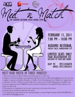 what to expect at a speed dating event