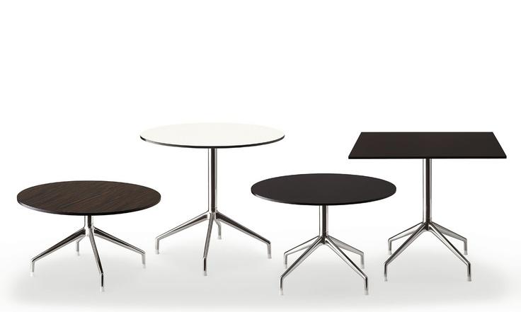 Sina tables by B, designer Uwe Fischer