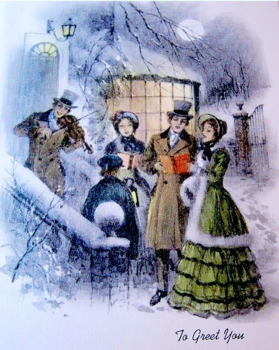 335 Best Old Christmas Post Сards Carolers Images On