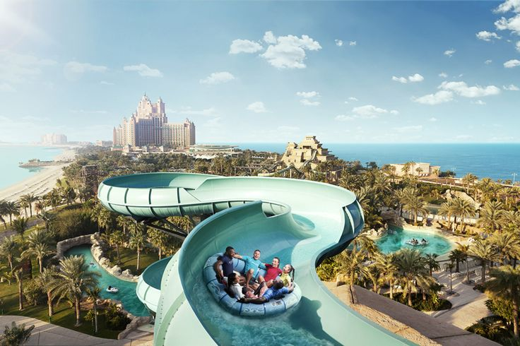 Amazing waterslide at Aquaventure Waterpark in conjunction with Atlantis The Palm! How exciting does that look?