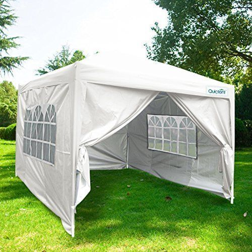 EZ Pop Up Canopy Gazebo Party Tent Silver Waterproof Heavy Duty Steel Frame NEW #EZPopUpCanopyGazeboPartyTent