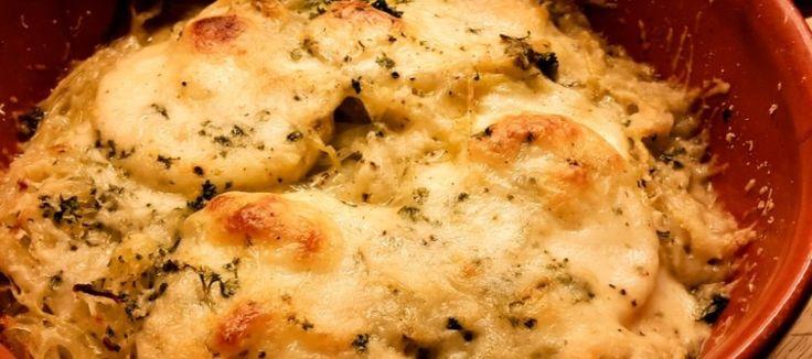 Gebakken polenta met mozzarella en Parmezaan
