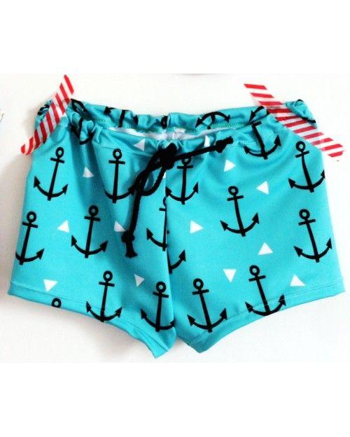 Chou ce maillot de bain bleu à ancres marine - Melle Malabar