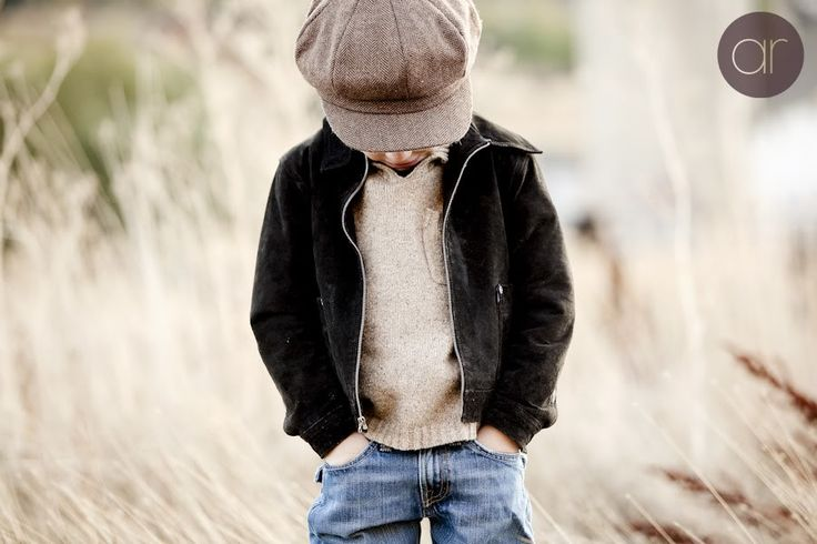 Adorable pose for a little boy