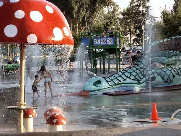 after purchasing Hawaiian shave ice head to the water park at City Park in downtown Kelowna