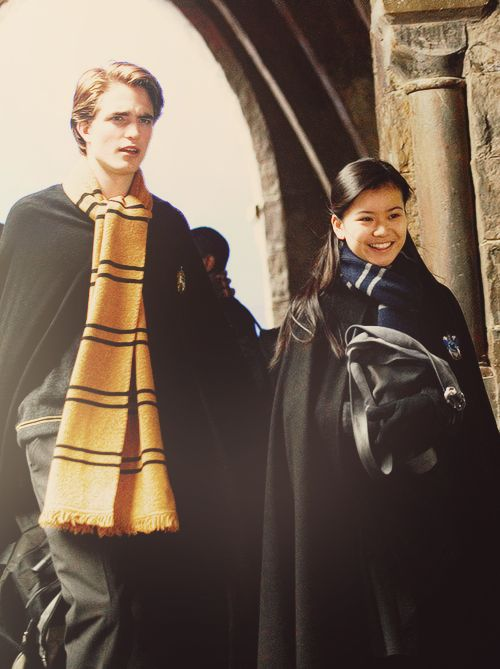 Cedric and Cho ~ Harry Potter and the Goblet of Fire (I really cannot stand Cho, I can't believe she rejected Harry and tormented him in the next book! GRR)