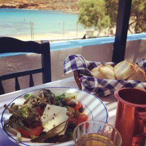 #Kasos Greek salad at Emborios Beach #GreekFood #Travel #Greece