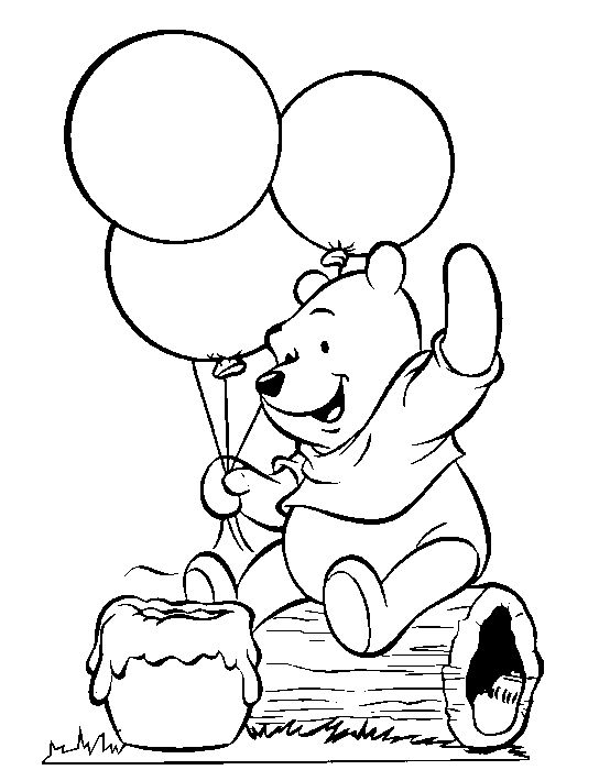 Simple Winnie The Pooh Coloring Pages