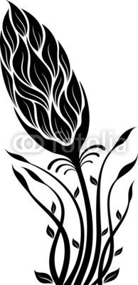 flower silhouette vector