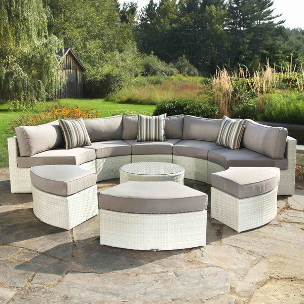 The Santorini Is A Circular Outdoor Sectional Made Of Signature