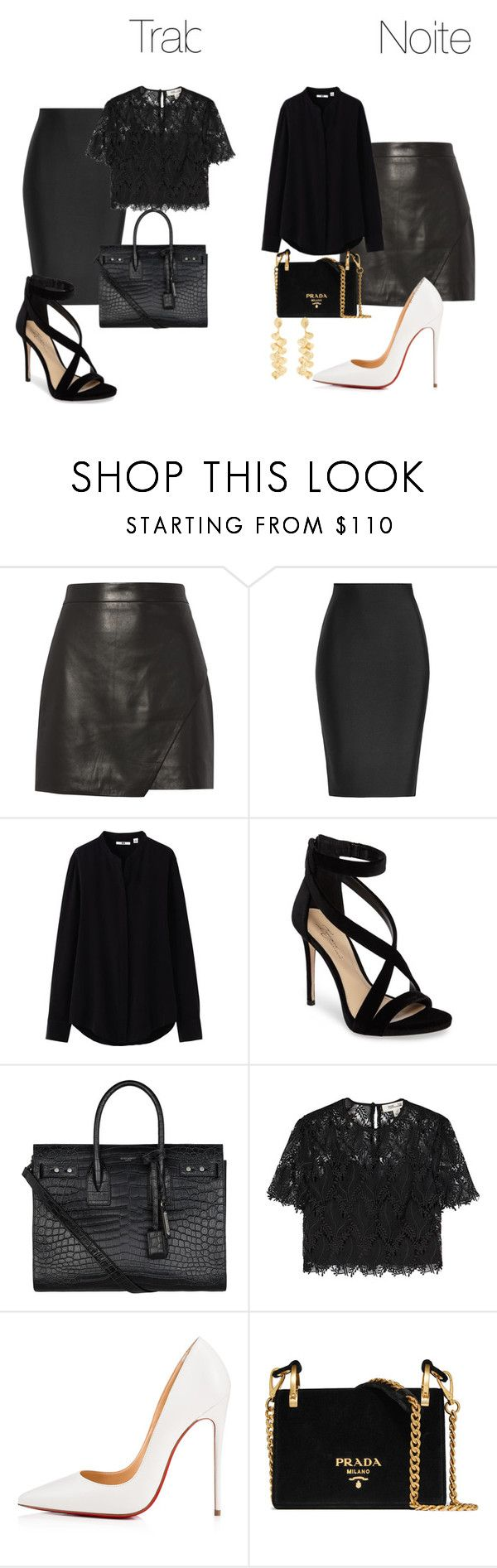 """""""Look Job and Night"""" by quelstylist on Polyvore featuring moda, Michelle Mason, Roland Mouret, Uniqlo, Imagine by Vince Camuto, Yves Saint Laurent, Diane Von Furstenberg, Christian Louboutin, Prada e Kenneth Jay Lane"""