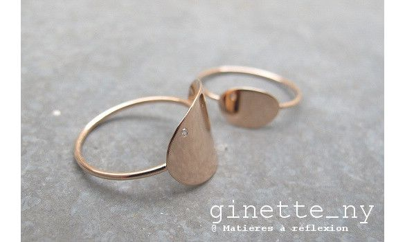 Ginette NY bague Mini-Sequin diamant or #ginetteny #ginette_ny #rosegold