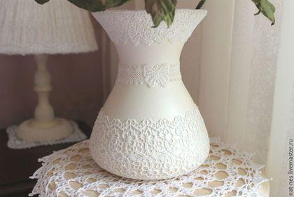Вазы ручной работы. Кружевная ваза. Интерьер -Декор (nat-nes). Ярмарка Мастеров. Винтажный стиль, предмет интерьера