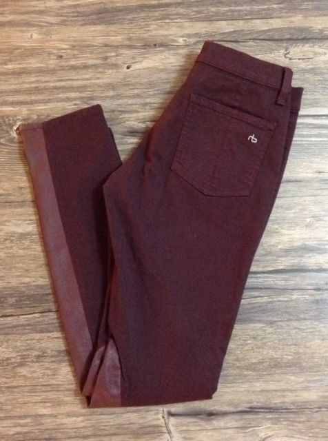 Rag And Bone Leather Detail Skinny Plum Jeans Womens Sz 28 / | eBay