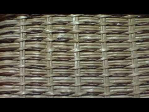 """▶ Узоры. Сочетание ситцевого плетения с """"верёвочкой"""". - YouTube"""