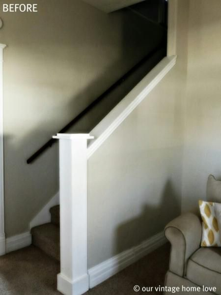How to on making closed basement staircase into an open half wall?? – DoItYourself.com Community Forums