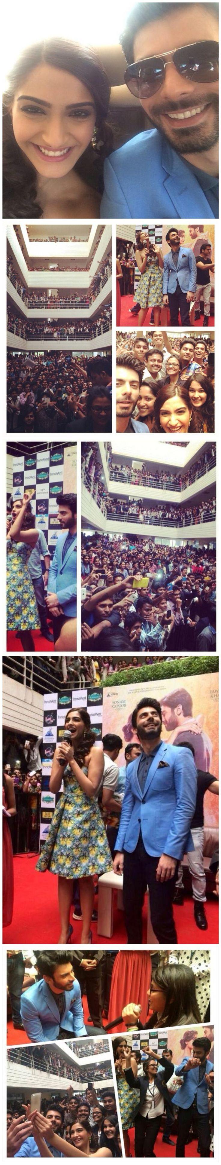 Khoobsurat Diaries: Sonam Kapoor & Fawad Khan create frenzy in Bangalore.