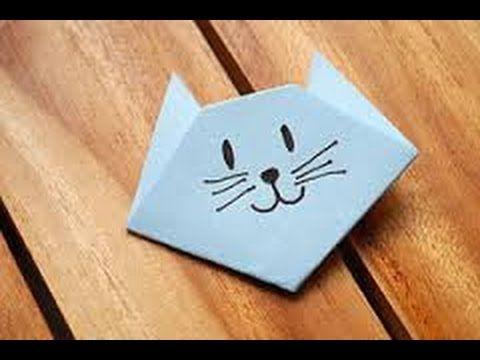 comment faire une tete de chat en origami pliage facile communication pinterest origami. Black Bedroom Furniture Sets. Home Design Ideas