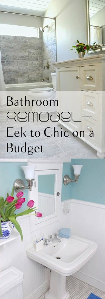 Photo Image Bathroom Remodel Eek to Chic on a Budget