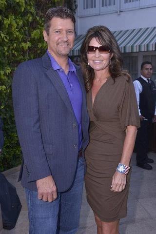 Classy Couple.  Todd & Sarah Palin