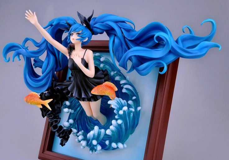 1pcs anime character photo frame blue water girl style
