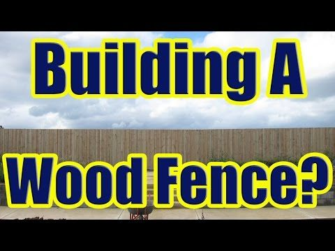 17 Best Ideas About Wood Fence Installation On Pinterest